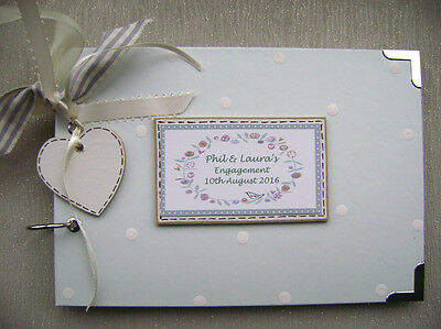 Personalised  Engagement   A5  Size Photo Album/scrapbook/memory Book.