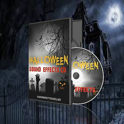 Halloween Sound Effects Cd - Party Scary Spooky Kids (290+ Sold)