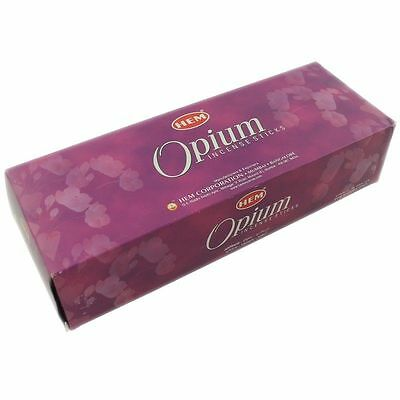 OPIUM- HEM Incense sticks 6 Hexa packs - 20 sticks each-01466