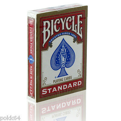 Jeu de 52 cartes BICYCLE RIDER BACK poker et magie 54 cartes ROUGE 65100