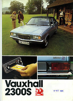 (84) CATALOGUE VAUXHALL 2300S + information 1967-1968