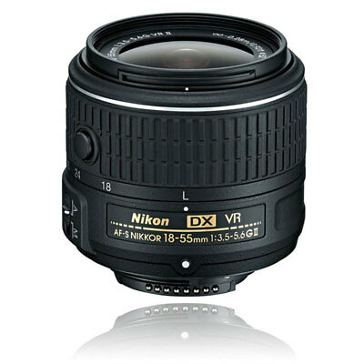 Nikon AF-S DX NIKKOR 18-55mm f/3.5-5.6G VR II Lens for Digital SLR Cameras