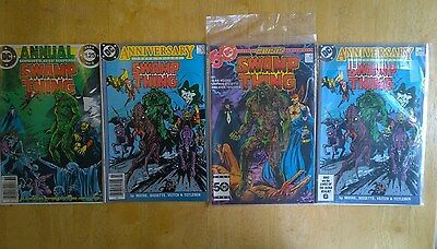 Swamp Thing 50 (x2) 46 Annual 2 - Alan Moore -1st Justice League Dark  DC Comics