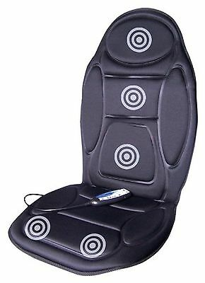 Massage Seat Cover Heated Heat Back Neck Cushion Car Hips Thighs Massager Lower