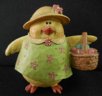 Suzi 2007 Easter Chick Collectible Figurine Mom with Her Egg Basket