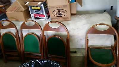 Antique Oak Larkin #1 (?) Pressed Back Chairs Set of 4