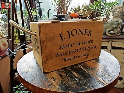 Vintage Style, J.jones Butcher Sausages Crate, Box, Chest. Dad's Army
