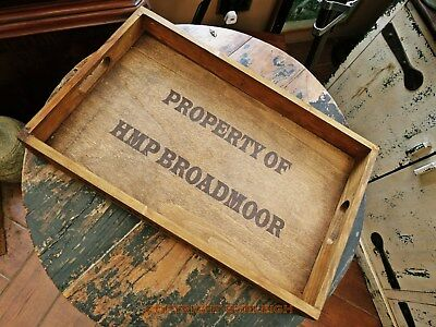 Vintage Style, Hmp Broadmoor Serving Tray, Decorative Wooden, Very Different