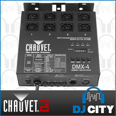 Chauvet DJ DMX-4 4 Channel DMX Dimmer with IEC Power Input and Output