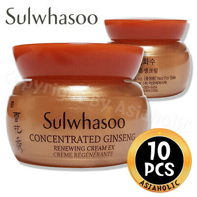 Sulwhasoo Concentrated Ginseng Renewing Cream 5ml x 10pcs (50ml) Sample AMORE
