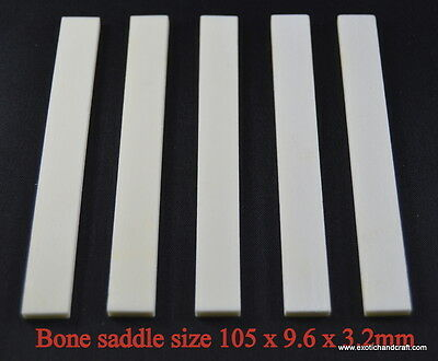 1 set of 10pcs  Guitar buffalo bone saddle premium quality size 83 x 9.6 x 2.2mm