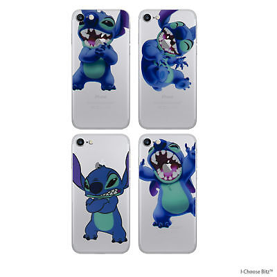 Stitch Case/Cover Apple iPhone 7 Plus 6 6s 5s 5c SE + Screen Protector Silicone