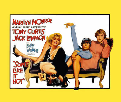 New Retro Film Poster Some Like It Hot Marilyn Monroe Mousemat Pad