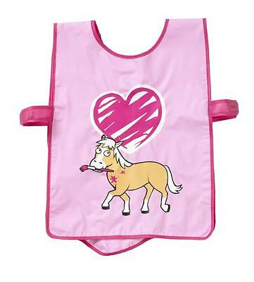 Bugzz Kids Pink Pony Brush Childrens Childs Girls Painting Cooking Apron Tabard