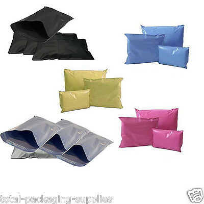 Coloured Mail Mailing Bags Pink Purple Red White Grey Black Blue