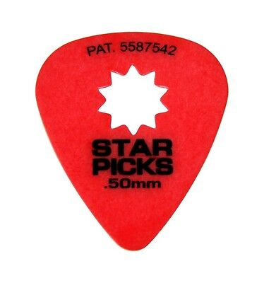 STAR PICKS LOT DE 3 Médiators Pat.5587542 Taille 0.50 mm