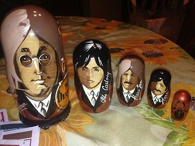 Beatles Collectable Russian Wooden Doll Set