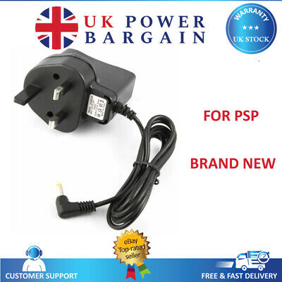 3Pin UK Home Wall Travel Mains Plug Charger for SONY PSP 1000 2000 SLIM 3000 New