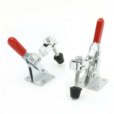 2pcs 101A 50Kg 110 Lbs Quick Holding Vertical Type Toggle Clamp Red LW