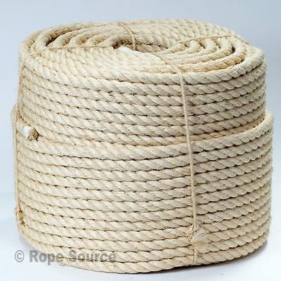 28mm NATUREL SISAL ROPE BOBINES,PONT,JARDIN,CHAT GRATTAGE POST,PERROQUET JOUETS