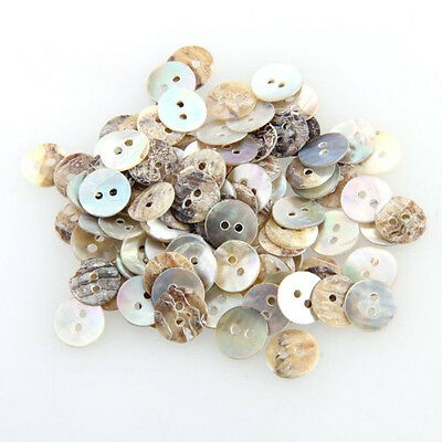 100 Mother of Pearl MOP Round Shell Sewing Buttons 8mm HOT LW