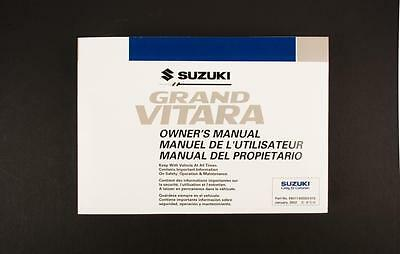 Genuine Suzuki XL-7 JA Owners Manual 99011-65D23-012