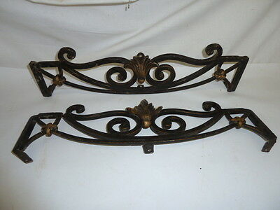Vintage French Style Shell Motif Iron Door Window Crown