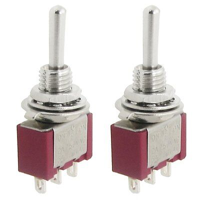 2 Pcs AC SPDT On/Off/On 3 Position Momentary Toggle Switch AC250V/2A/120V/5A LW