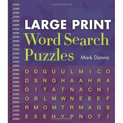 Large Print Word Search Puzzles Mark Danna Sterling Paperback 9781402777349