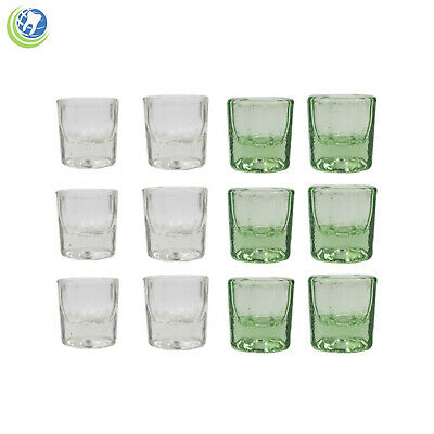 Glass Dappen Dish Assorted Acrylic Holder Container Dental Cosmetology Art 12Pc
