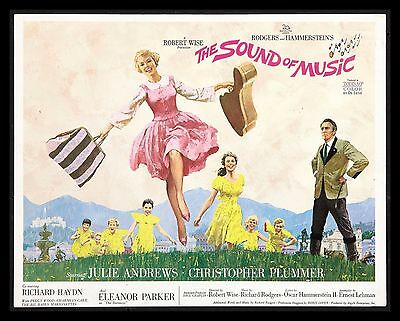THE SOUND OF MUSIC CineMasterpieces 1965 ORIGINAL MOVIE POSTER TITLE LOBBY CARD