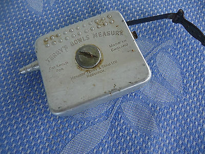 vintage lawn bowls tape measure terry's england metal