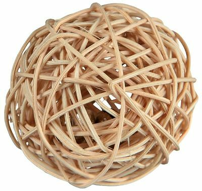 Wicker Ball with Bell Small Animal Playing Toy for Gerbils Mice & Hamsters