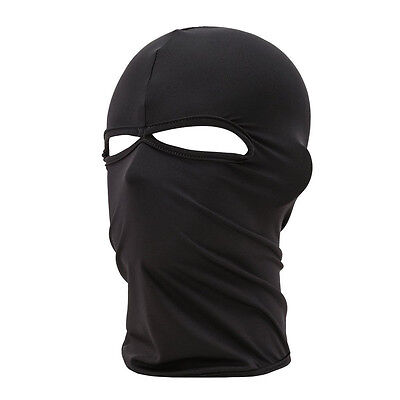 Outdoor Motorcycle Full Face Mask Balaclava Ski Neck Protection Black LW