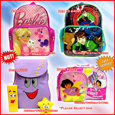 Cartoon Backpack DORA THE EXPLORER BEN 10 BARBIE NEW shoulder bag school kids