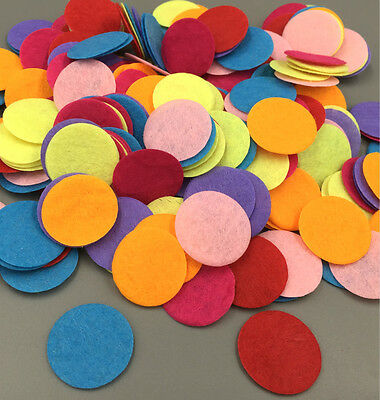 100PCS Mixed Colors Die Cut Felt Circle Appliques Cardmaking decoration 25mm/1""