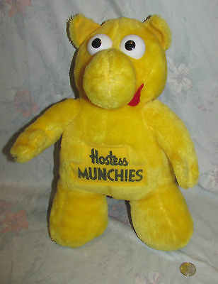 """Vintage Hostess Potato Chips Munchies Character Plush Yellow Guy from 1980's 14"""""""