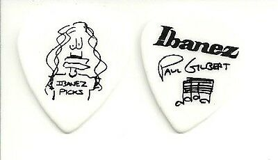 Ibanez Lot De 2 Mediators Signature Paul Gilbert Blanc