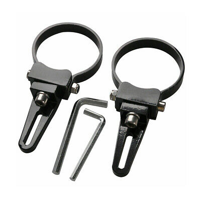 """2X 3/"""" inch 76mm Bull Bar Mount Bracket Clamps Silver For LED Light Bar HID 4X4"""