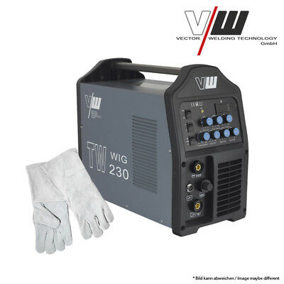 SET: VECTOR Schweißgerät WIG TW230 PULS WELDING MACHINE TIG MMA INVERTER WELDER