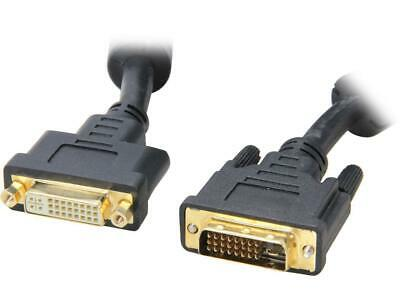 BYTECC DVID-15MF Black 15 feet DVI to DVI Male to Female Dual Link DVI-D M/F Ext