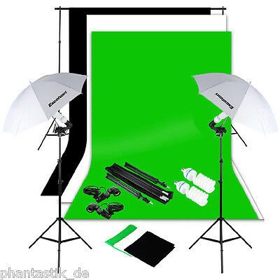 1250W Pro Photo Studio Softbox Continuous Lighting Kit With Background Stand Bag