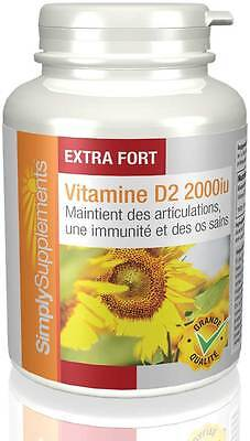 Vitamine D2 2000iu - 360 Comprimés - Simply Supplements
