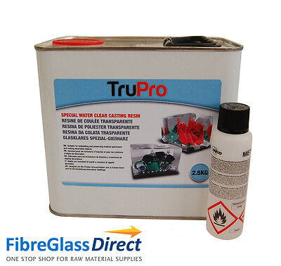 2.5kg TruPro Water Clear Casting Resin and Catalyst (Arts & Crafts etc.)
