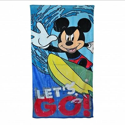 Disney Mickey Mouse Let'S Go Printed Holiday Beach Towel