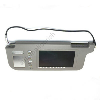 """7"""" Car SUV Sunvisor Rear View Mirror Screen Lcd Monitor for DVD/GPSMP5 grey LH"""