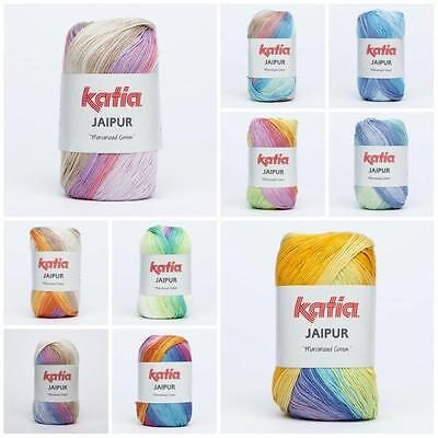 Katia Jaipur Mercerized 100 % Cotton Yarn for Knitting & Crochet Wool Crafts