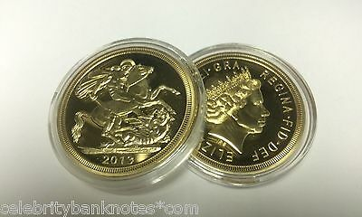 STUNNING  St George & The Dragon 24K PURE GOLD LAYERED Commemorative Coin (40mm)
