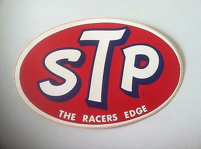 "STP ~ ""The Racers Edge"" ~ Decal ~ Sticker"