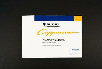 Genuine Suzuki Cappuccino SX Owners Manual 99011-80F20-01E